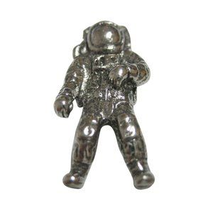 Silver Toned Textured Space Astronaut Magnet